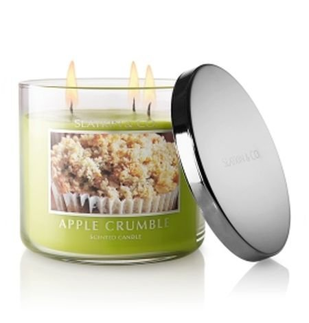 2 Slatkin & Co. 14.5 Oz. Filled Candle Apple Crumble