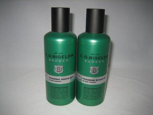 C.O. Bigelow Barber Foaming Shave Gel - Elixir Green - TWO Bottles!