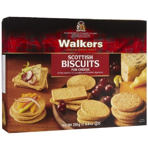 Walkers, Biscuit For Cheese, 8.8 OZ (Pack of 12)