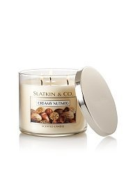 Bath & Body Works Slatkin & Co. 14.5 Oz. Three Wick Scented Filled Candle - Crea