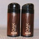 Bath and Body Works Signature Collection (2) Oak for Men Deodorizing Body Sprays