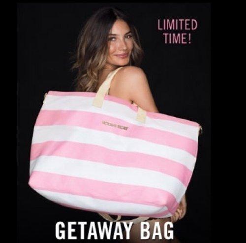 Victoria's Secret Beach Weekender Limited-Edition Duffle Getaway Bag 2013 + BONU