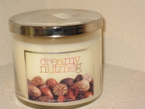 Bath & Body Works Slatkin & Co 14.5 Oz. Filled Candle Creamy Nutmeg