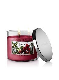 Bath & Body Works Slatkin & Co. 14.5 Oz Three Wick Scented Filled Candle - Spice