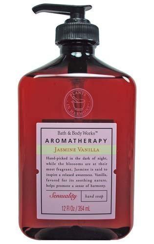 Bath & Body Works Aromatherapy Jasmine and Vanilla Sensual Hand Soap 12 oz