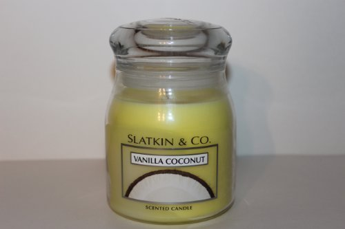 Bath and Body Works Slatkin & Co Coconut Vanilla Scented Candle Jar 14.5oz