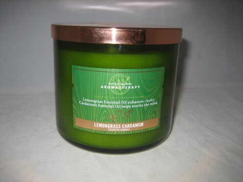 Bath & Body Works Aromatherapy Three Wick 14.5 Oz. Scented Candle - Lemongrass C