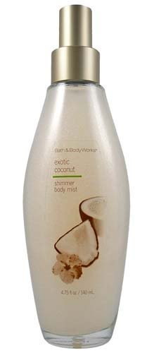 Bath & Body Works Luxuries Exotic Coconut Shimmer Body Mist 4.75 oz