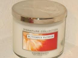 Bath & Body Works Slatkin & Co. Small 4 Oz. Scented Candle Butterfly Flower