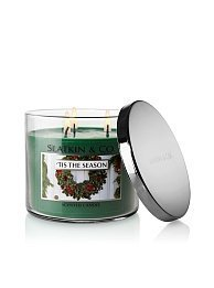 Bath & Body Works Slatkin and Co. Three Wick 14.5 Oz. Scented Candle - 'Tis the