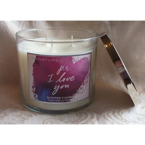 Bath and Body Works Signature Collection P.s I Love You Scented Candle 4oz
