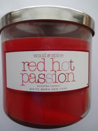 White Barn Wood & Spice RED HOT PASSION Scented Candle 14.5 oz/ 411