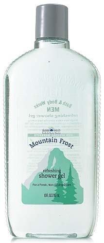 Bath & Body Works Men Mountain Frost Refreshing Shower Gel 10 fl oz (295 ml)