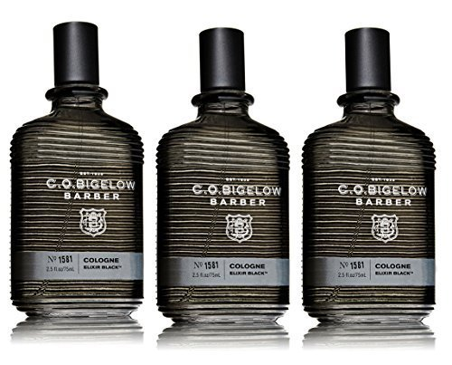 Lot of 3 C.O. Bigelow Elixir Black 1581 Cologne Spray 2.5 Oz
