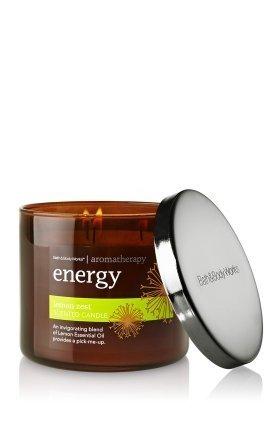 Aromatherapy Lemon Zest Scented Candle 14.5 Oz