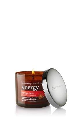 Bath & Body Works Aromatherapy Energy 4 oz Filled Candle - ORANGE GINGER