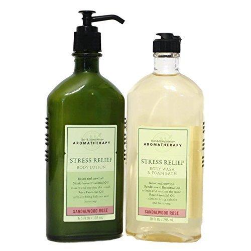 Bath & Body Works Aromatherapy STRESS RELIEF - Body Wash & Foam Bath (10 fl oz)
