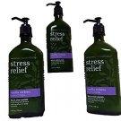 Bath & Body Works Aromatherapy Stress Relief Vanilla Verbena Lotion 6.5oz X3 - 1