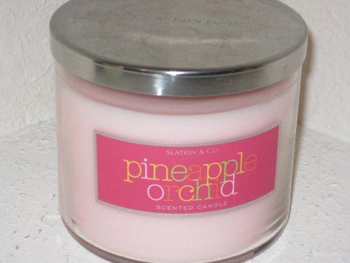 Bath & Body Works Slatkin & Co 14.5 Oz. Filled Candle in Glass Jar Pineapple Orc