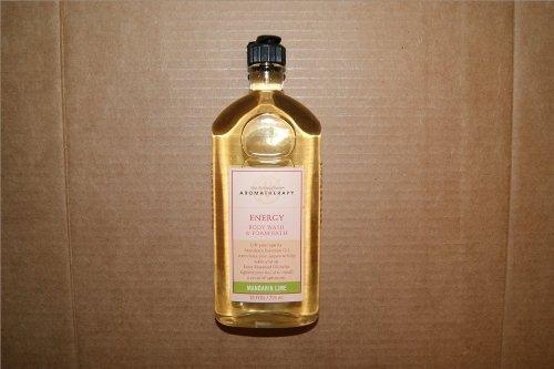 Bath & Body Works Aromatherapy Mandarin Lime Body Wash & Foam Bath Energy Shower