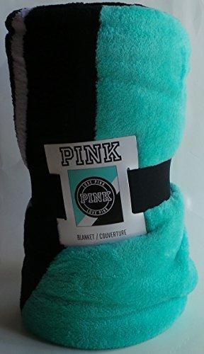 Victoria's Secret Pink Plush Blanket in Blue Teal