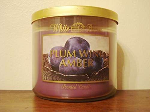Bath & Body Works Plum Wine Amber Scented 3 Wick Candle 14.5 Oz