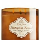 Bath & Body Works 2014 White Barn THANKSGIVING MORNING 3 Wick Scented Candle 14.