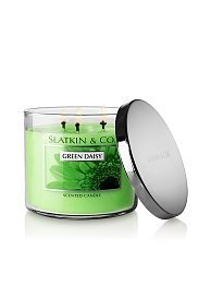 Bath & Body Works Slatkin & Co. Three Wick 14.5 Oz. Scented Candle -Green Daisy