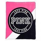 Victoria's Secret Pink Plush Blanket in Hot Pink