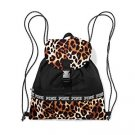 Victoria's Secret PINK Campus Drawstring Backpack with Flap Leopard