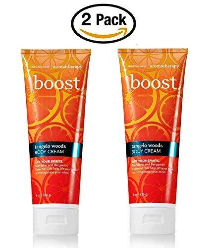 Bath & Body Works Aromatherapy Boost Tangelo Woods Body Cream 2 Pack - 8 Oz -