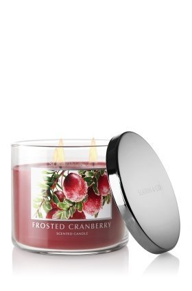 Bath and Body Works Slatkin & Co. FROSTED CRANBERRY Scented Candle 14.5 OZ