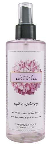 Victoria's Secret Garden Soft Raspberry Layers of Love Spell Refreshing Body Mis