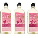 Lot of 3 Bath & Body Works Aromatherapy Sandalwood Rose Stress Relief Body Wash