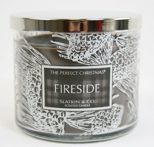 Slatkin & Co. Large Fireside Scented Candle by Bath & Body Works 14.5 oz.