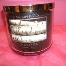 Bath and Body Works Slatkin & Co 14.5 Oz -3 Wick Candle Fireside