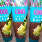 Lot of 3 Bath & Body Works Signature Collection Cool Amazon Rain 24 Hour Moistur