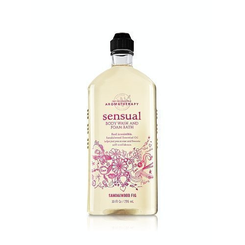 Bath & Body Works Aromatherapy Sensual Sandalwood Fig, Body Wash and Foam Bath,