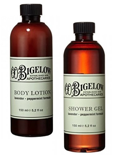 C.O. Bigelow Lavender and Peppermint Lotion and Shower Gel Bundle