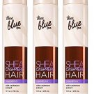 Lot of 3 Bath and Body Works True Blue Spa Shea Cashmere Hair Shampoo 10 FL OZ