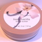 Bath & Body Works Fresh Vanilla Body Butter 5 Oz