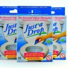 Just A Drop - The Natural Toilet Odor Neutralizer - 15 ml - 3 Pack
