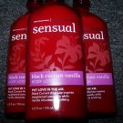 Lot of 3 Bath & Body Works Aromatherapy Sensual Black Currant Vanilla Body Lotio