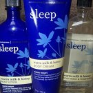 3 Piece Bath & Body Works Aromatherapy Sleep Warm Milk & Honey Fragrance Gift Se