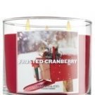 Slatkin & Co. Frosted Cranberry 3-wick 14.5 oz Candle