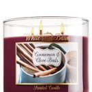 1 X Bath and Body Works Cinnamon & Clove Buds 3 Wick Scented Candle 14.5 Oz. 201