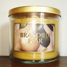 Bath & Body Works BRANDIED PEAR 14.5 oz 3 wick candle White Barn scented candle