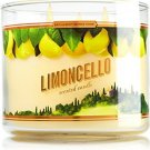 1 X Bath & Body Works 2014 LIMONCELLO 3 Wick Scented Candle 14.5 oz./411 g