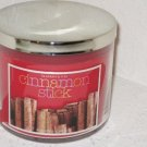 Bath & Body Works Slatkin & Co 14.5 Oz. Filled Candle in Glass Jar Cinnamon Stic