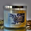 Bath & Body Works Lavender Vanilla scented 3 Wick Fragrance Candle 14.5 oz White